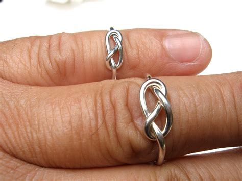 his and infinity rings infinity knot rings sterling his and hers by esteverde