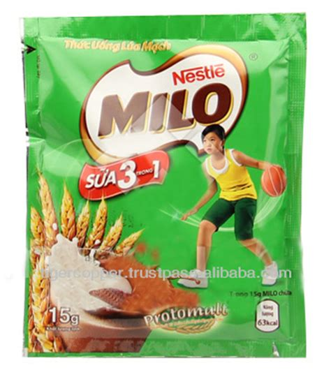 Milo 3 In 1 Sachet 700gr milo 3 in 1 milk powder sachet 15g milo chocolate malt