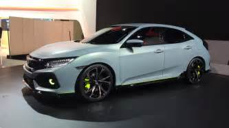 Honda Hatch Back 2017 Honda Civic Hatchback Finally Revealed At 2016 Geneva