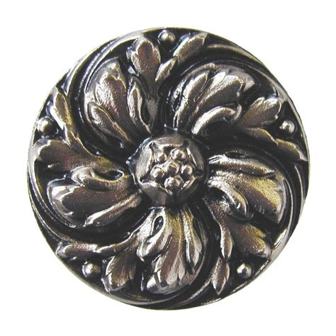Notting Hill Knobs by Shop Notting Hill Chrysanthemum Satin Nickel Cabinet