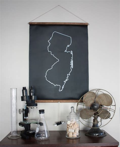 chalkboard state maps custom state map decor 50 states