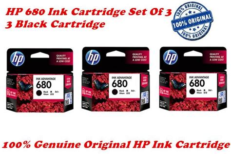 Cartridge Hp Black Ink 60 100 Original hp 680 ink cartridge set of 3 3 bl end 11 23 2017 8 15 pm