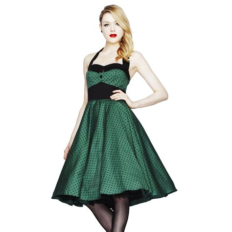 swing kleid gepunktet damen kleid hell bunny gr 252 n gepunktet retro 50er