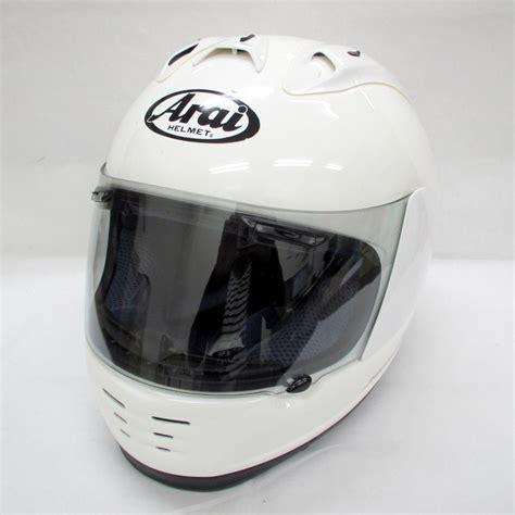 Helm Arai Rapide Sr 2010年製 arai アライ rapide sr ラパイドsr フルフェイスヘルメット ホワイト 59 60cm を買い取りいたしました お売りいただき有り難うございます ヘルメット買取