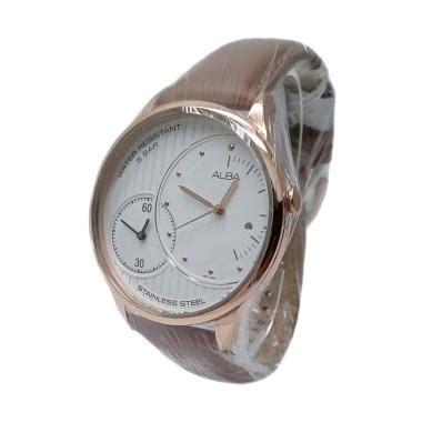 Jam Tangan Alba Kulit Coklat jual alba analog tali kulit 161266 jam tangan pria gold coklat harga kualitas