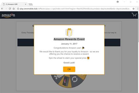 Amazon 1000 Gift Card Scam - remove quot 1000 amazon gift card is reserved for you quot pop up ads