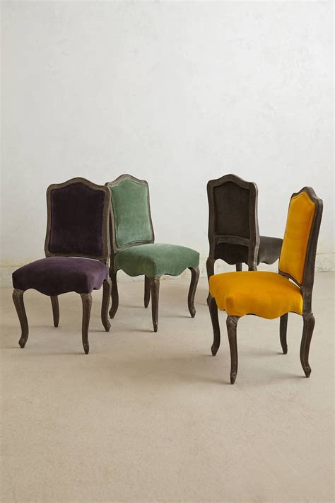 Anthropologie Dining Chairs Velvet Beatrix Dining Chair