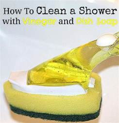 easy shower cleaner with and vinegar