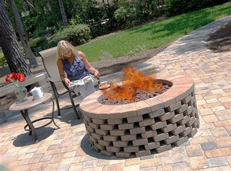 Firepit Bricks Brick Pit Ring Pit Ideas Pit Ring Bricks And Backyard