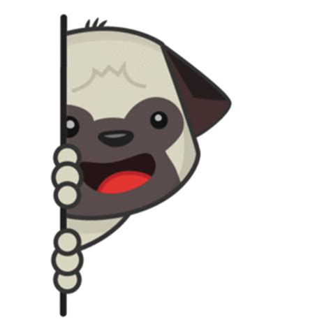 pug emoji animated leo the pug sticker set now available on the imo im messaging platform trutower