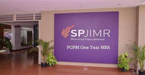 Sp Jain 1 Year Executive Mba by Sp Jain One Year Mba Spjimr Pgpm Class Of 2017 Has Average