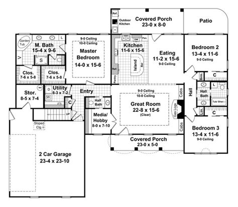 2000 sq ft floor plans plan south louisiana house the forrest wood 6569 3 bedrooms and 2 baths the house