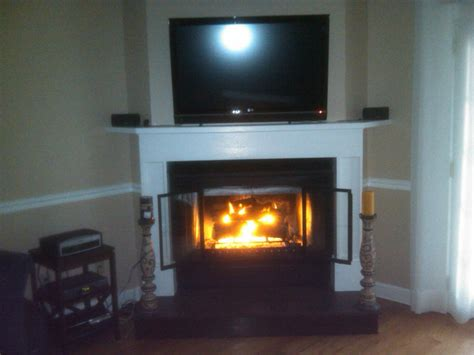 corner fireplace w tv from building services inc