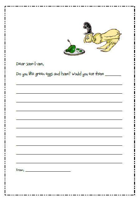 Letter Writing Prompts Dr Seuss Printables Missmernagh