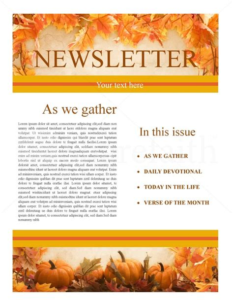 microsoft templates for thanksgiving flyers thanksgiving church newsletter template newsletter templates