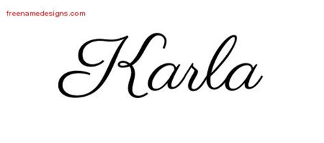 karla archives free name designs