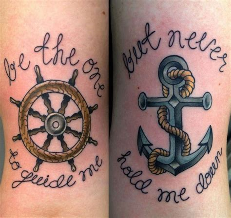 nautical couple tattoos best 25 wheel ideas on ship wheel