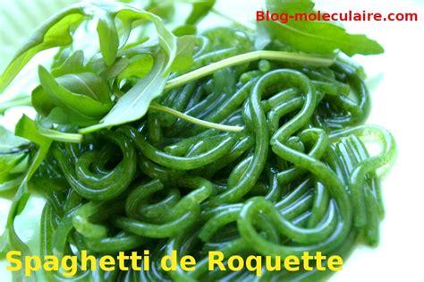 spaghetti cuisine mol馗ulaire recette de spaghettis de roquette cuisine moleculaire