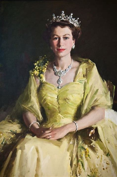 Queen Elizabeth II portrait at Parliament House by Alana O