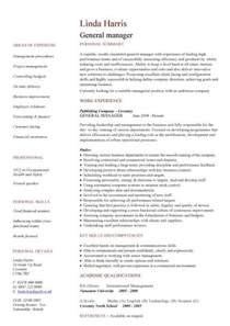 Best Resume General Manager by General Manager Resume Example Best Resume Gallery