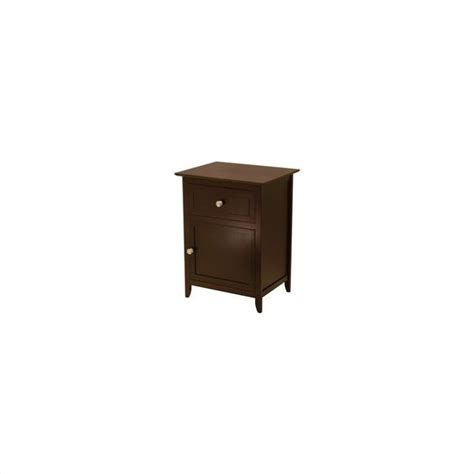 Nightstand Cabinet by Nightstand With Cabinet And Drawer In Espresso 92815