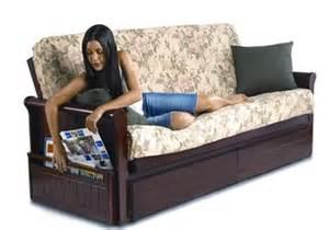 Futon With Storage Underneath by Prince Hardwood Sleeper Sofa Futon Frame W Optional