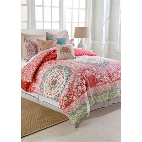 1000 ideas about coral comforter set on pinterest