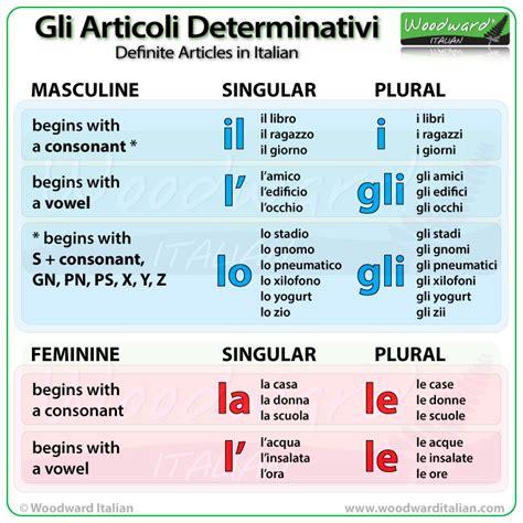 in italian definite articles in italian italian