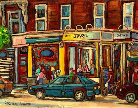 paint for shop java u coffee shop montreal painting by streetscene