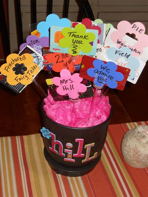 Teacher Gift Card Ideas - 17 best images about teacher appreciation on pinterest valentine gifts gifts and end of