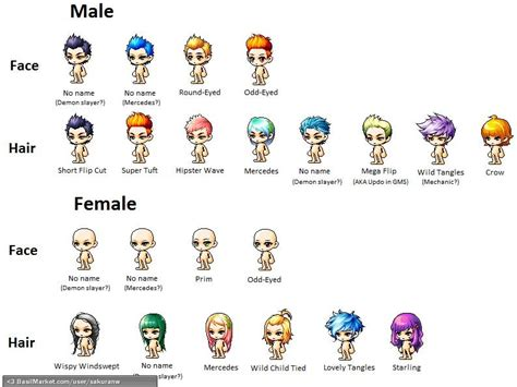 maplestory hairstyles by town maplestory all hairstyles all female hairstyles