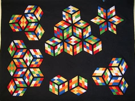 pattern for rubik s triangle 406 best quilting 3d blocks hexagons triangles