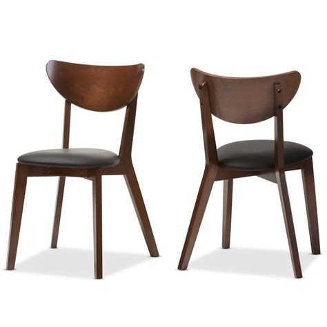 Baxton Studio Dining Chairs Baxton Studio Sumner Mid Century Walnut Brown Dining Chair Set Of 2