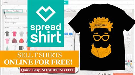 design your shirt and sell it spreadshirt how to design and sell your t shirt online