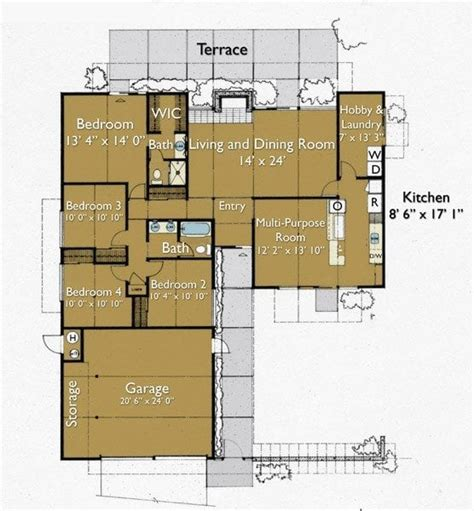 L Shape Floor Plans by L Shaped 4 Bedroom House Plans Luxury Contemporary L
