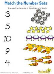 counting number sets amp matching free worksheet for