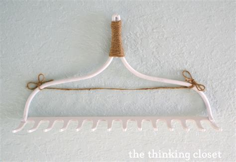 d i y rake necklace hanger the thinking closet