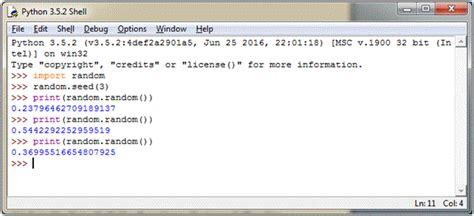 tutorial python package python random module tutorialology