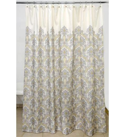 White And Gray Shower Curtain by Grey And White Damask Curtain For Shower Useful Reviews
