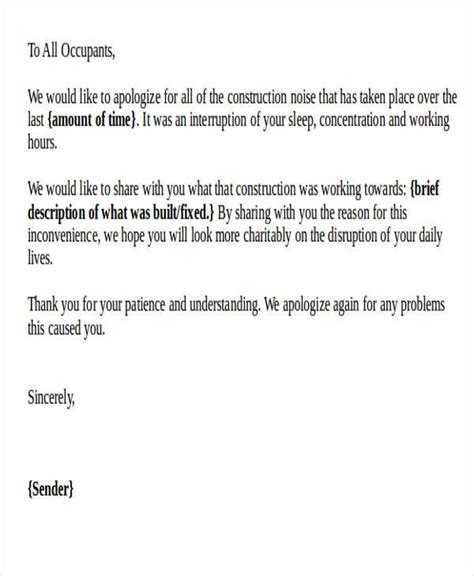 formal apology letter templates ms word