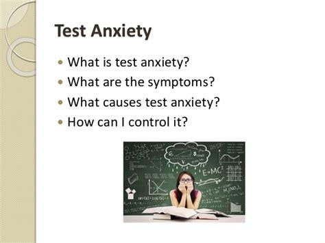 anxiety test test anxiety workshop