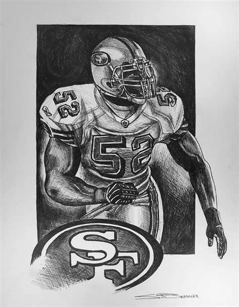 49ers Sketches by Bardsley Sports Willis 2012