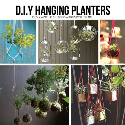 how to make hanging planters put your stuff up in the air hanging diy ideas tutorials