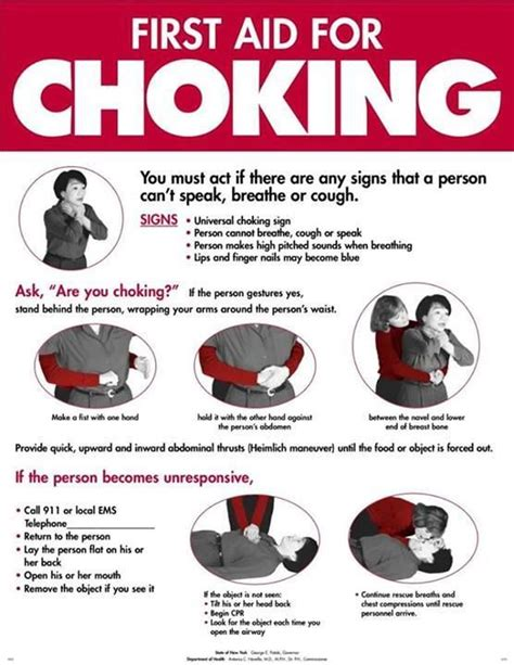printable choking instructions first aid for choking seems pretty important