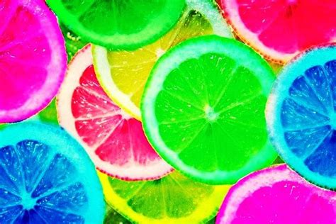 colorful lemon wallpaper colorful rainbow lemons green pink blue yellow red coo