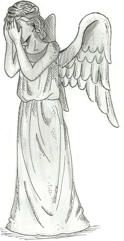 doctor who coloring pages weeping angels weeping angel doctor who coloring pages