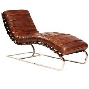 Chaise Lounge Leather St Leather Chaise Cognac Zin Home