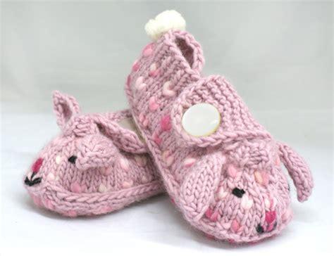 easter bunny slipper gift for easter knitted baby booties make handmade