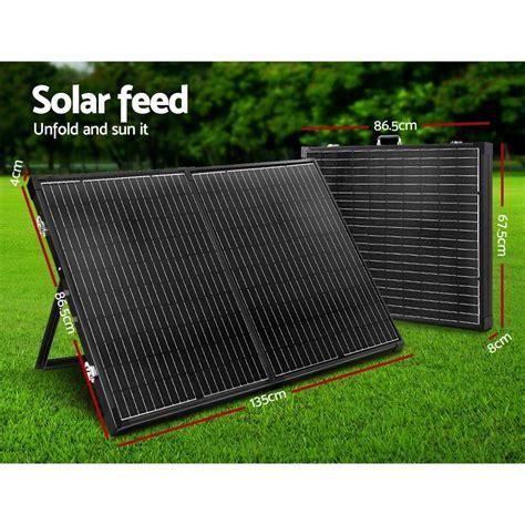 solraiser  folding solar panel kit regulator black