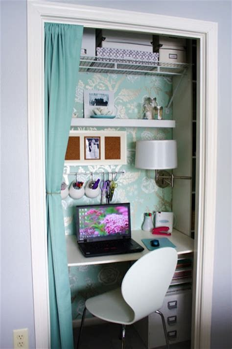 closet office turn your closet into a organized desk area for